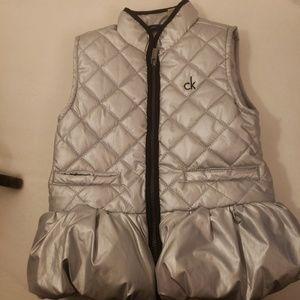 Metallic calvin Klein puffer vest